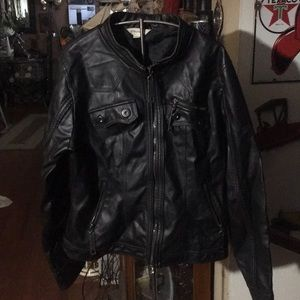Maurice's leather coat
